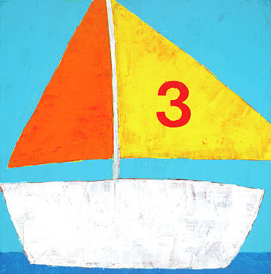 Sailboat Print by Laurie Breen