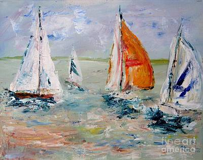 Julie Lueders Artwork Painting - Sailboat Studies 3 by Julie Lueders
