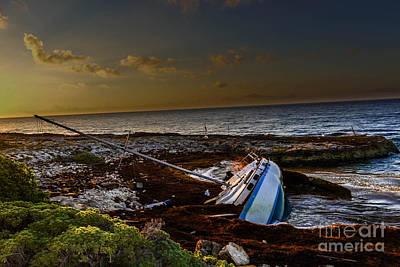 Photograph - Sailboat Wreck At Eden Pool Cancun by Gary Keesler
