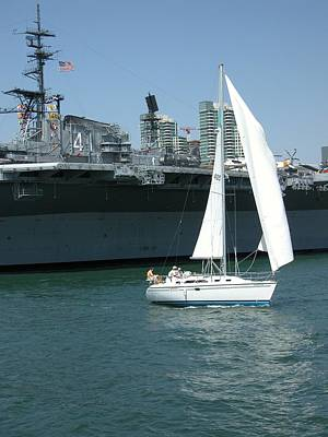 Sailboat Photograph - Sailboats 5 by Joseph R Luciano