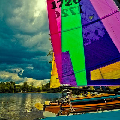 Digital Photograph - Sailboats At Camp Russell by David Patterson