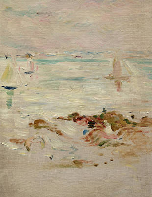 Harbor Painting - Sailboats by Berthe Morisot