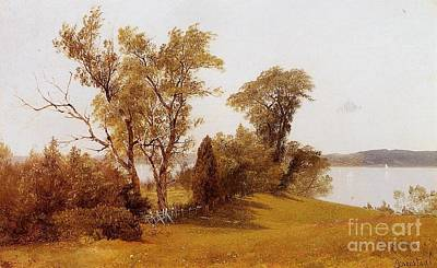 Tree Painting - Sailboats_on_the_hudson_at_irvington by MotionAge Designs