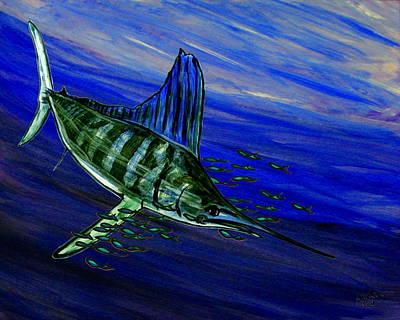 Fish Underwater Painting - Sailfish by W Gilroy