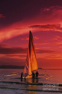 Sailing, Boracay Island Print by William Waterfall - Printscapes