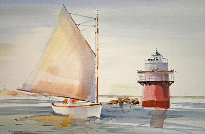 Sailing By Buglight  Print by P Anthony Visco