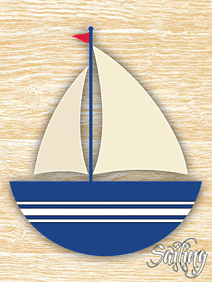 Boat Mixed Media - Sailing Collection by Marvin Blaine