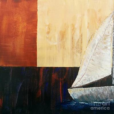 Pallet Knife Painting - Sailing Decor 4 by Shari Monner
