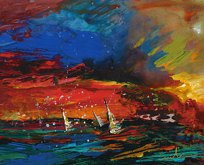 Art Miki Painting - Sailing Impression 03 by Miki De Goodaboom