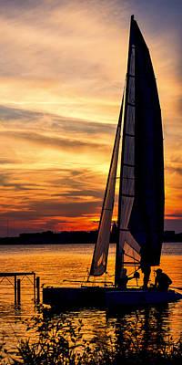 Sailing - Lake Monona - Madison - Wisconsin Print by Steven Ralser