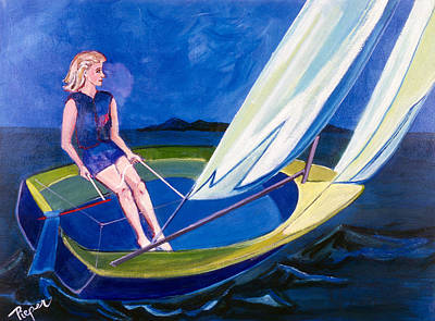 Sailing Off Nantucket Original by Betty Pieper