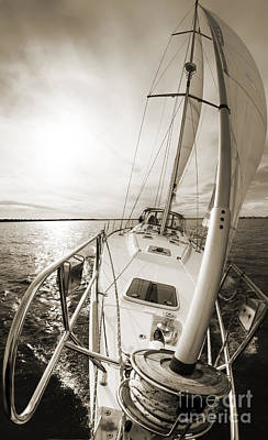 Yacht Photograph - Sailing On A Beneteau 49 Sailboat by Dustin K Ryan