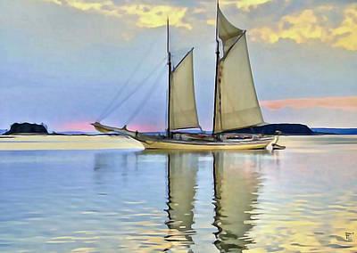 Sailing Sailin Away Yay Yay Yay Print by  Fli Art