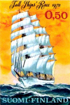 Historic Schooner Painting - Sailing School Ship by Lanjee Chee