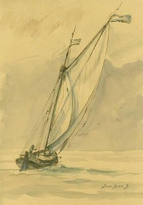 Sail-ship Painting - Sailing Ship by Juan Bosco