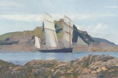 Painting - Sailing Ship by Sergey Lukashin