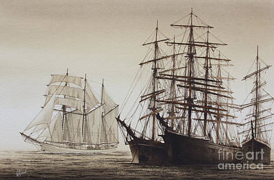 Sailing Ships Print by James Williamson