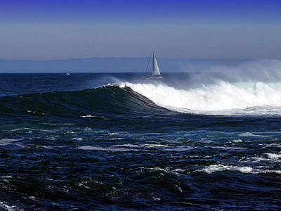 Best Sailing Photograph - Sailing The Blue Pacific by Joyce Dickens
