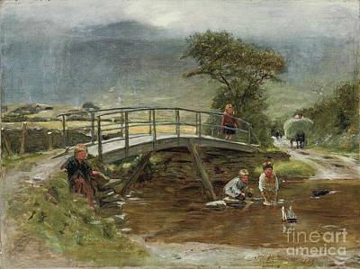 Sailing The Toy Boat Print by William McTaggart