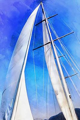 Sailing Unties The Knots Of My Mind Print by Tracey Harrington-Simpson