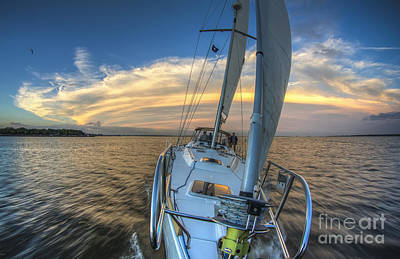 Yacht Photograph - Sailing Yacht And Tropical Storm Ana Outflow  by Dustin K Ryan