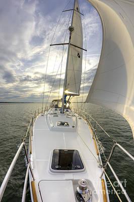 Sailing Yacht Fate Beneteau 49 Print by Dustin K Ryan