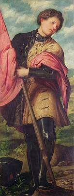 Soldier Painting - Saint Alexander A Panel From The Altarpiece The Nativity With Saints by Girolamo Romanino