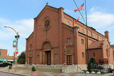 Photograph - Saint Ambrose Church Onthe Hill, Little Italy, In St. Louis, Mis by Adam Long