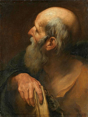 Andrea Sacchi Painting - Saint Andrew by Andrea Sacchi