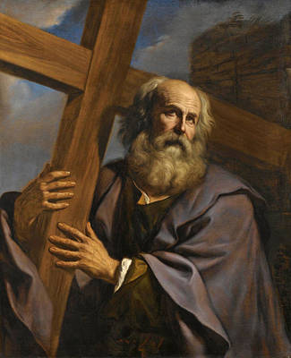 Painting - Saint Andrew Bearing His Cross by Guercino