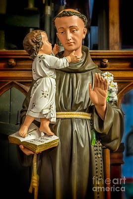 Rosary Digital Art - Saint Anthony by Adrian Evans