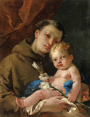 Painting - Saint Anthony Of Padua And The Infant Christ by Francesco Zugno