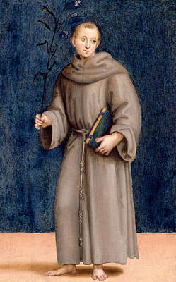 Saint Anthony Of Padua Print by Raphael