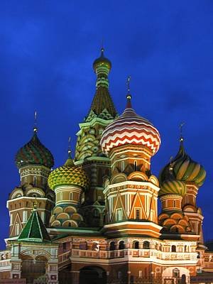 Kujo Photograph - Saint Basil's Cathedral Moscow  by Karin Ubeleis-Jones