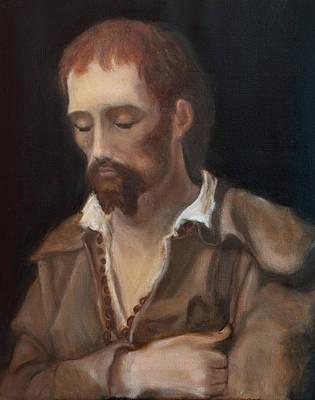 Mental Painting - Saint Benedict Joseph Labre  by Matthia Langone