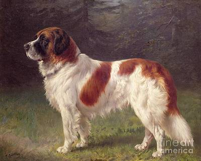 Dog Painting - Saint Bernard by Heinrich Sperling