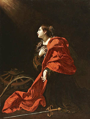 Painting - Saint Catherine by Attributed to Bartolomeo Cavarozzi