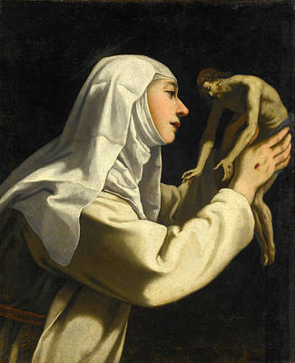 Rutilio Manetti Painting - Saint Catherine Of Siena by Rutilio Manetti
