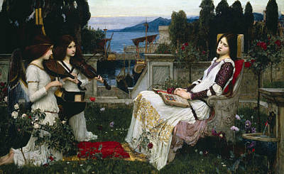 Saint Cecilia Print by John William Waterhouse