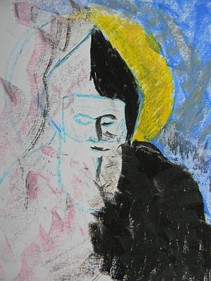 Religious Artist Drawing - Saint Charbel by Marwan George Khoury