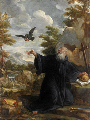 Painting - Saint Elijah Fed By The Raven by Lazzaro Baldi