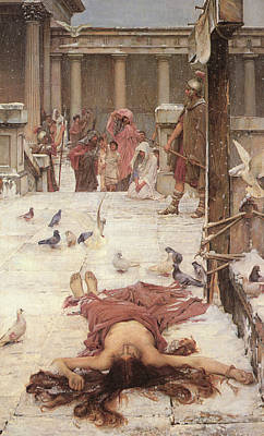Saint Eulalia  Print by John William Waterhouse