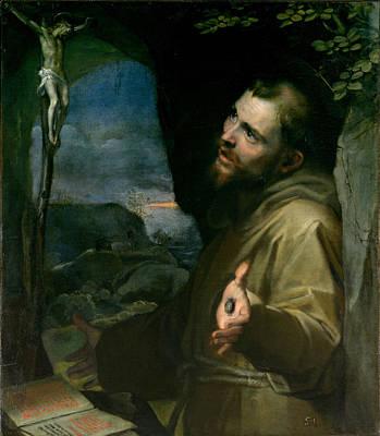 Federico Barocci Painting - Saint Francis by Federico Barocci