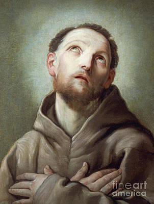 Heavenwards Painting - Saint Francis  by Guido Reni