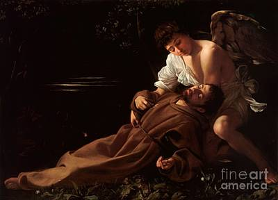 Saint Francis Of Assisi In Ecstasy Print by Celestial Images