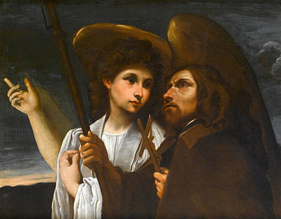 Painting - Saint Francis Of Paola With An Angel by Annibale Carracci
