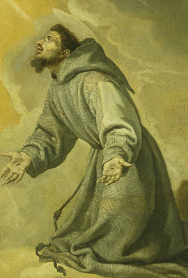 Saint Francis Receiving The Stigmata Print by Vicente Carducho