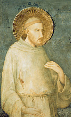 Saint Francis Print by Simone Martini