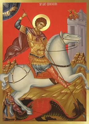 Painting - Saint George by Daniel Neculae
