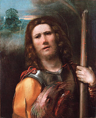 Dosso Dossi Painting - Saint George by Dosso Dossi